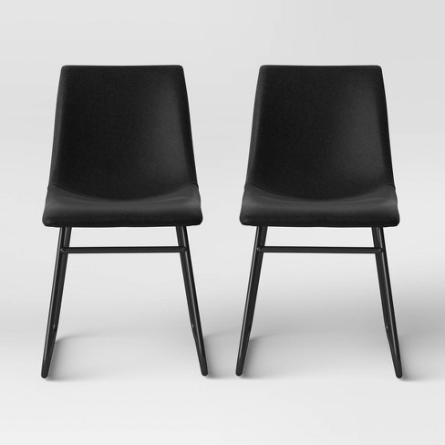 2pk Bowden Faux Leather and Metal Dining Chair - Project 62™ - image 1 of 4