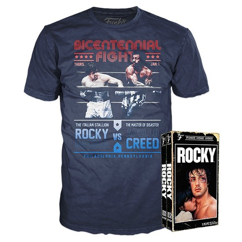 Funko Vhs Packaged T Shirt Rocky Balboa Blue S Target