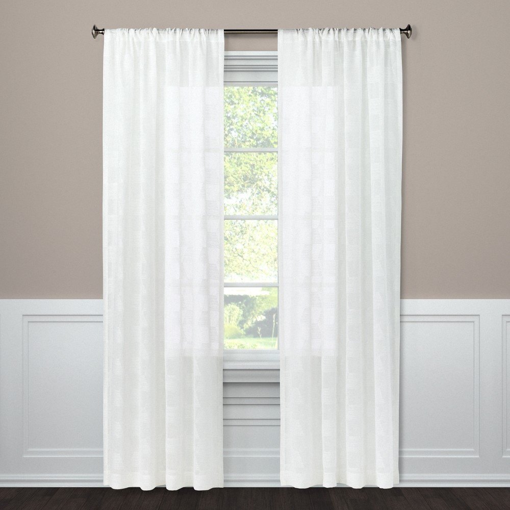 Sheer Curtain Panel Milan White 63 - Project 62, Blue