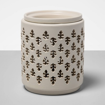 "6.5"" x 4.5"" Paisley Pattern Electric Scent Warmer White - Threshold™"