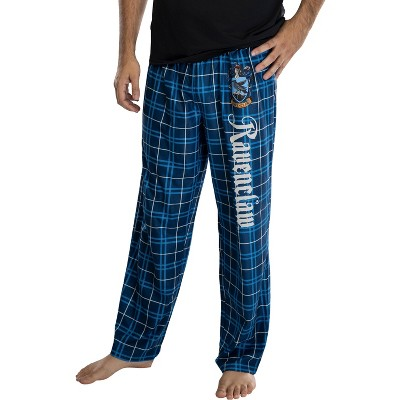 Harry Potter Adult Mens' House Crest Plaid Pajama Pants - All 4 Houses Gryffindor Ravenclaw Slytherin Hufflepuff