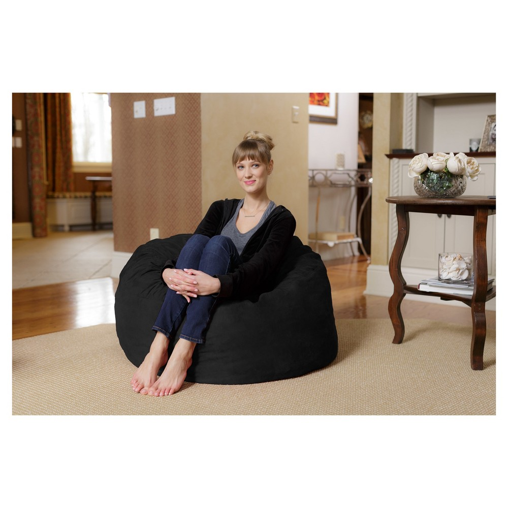 Image of 3 ft Microsuede Sack Black - Relax Sack
