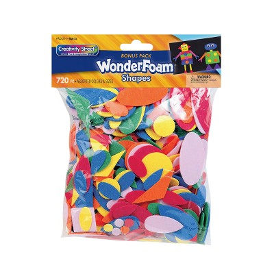 Wonderfoam Assorted Shape Decorating Foam, Assorted Size, Assorted Color, set of 720