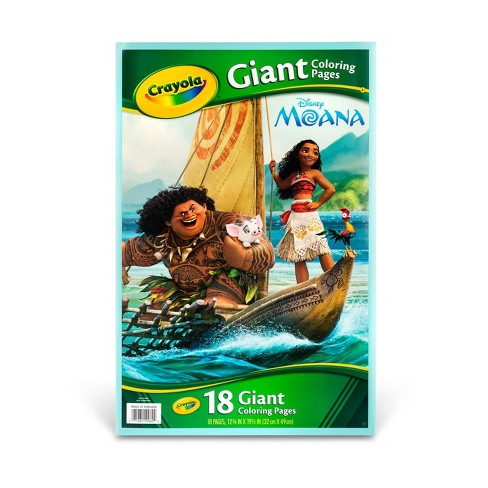 Crayola Giant Coloring Pages Moana