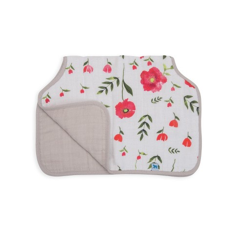 Little Unicorn Cotton Muslin Burp Cloth - Summer Poppy - image 1 of 2