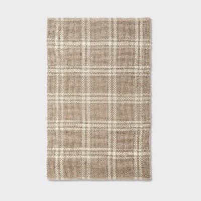 3'x5' Wool/Cotton Plaid Rug Neutral - Threshold™ designed with Studio McGee