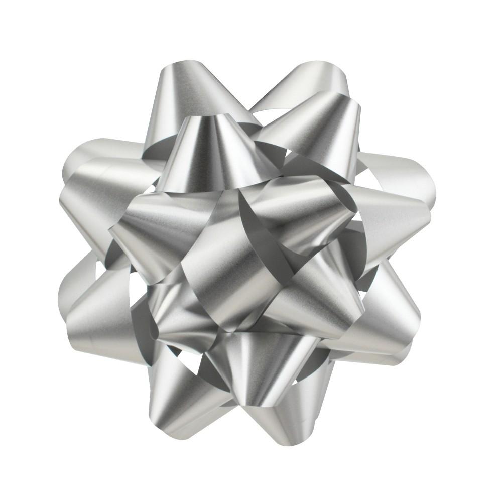 Silver Matte Mega Gift Bow - Wondershop