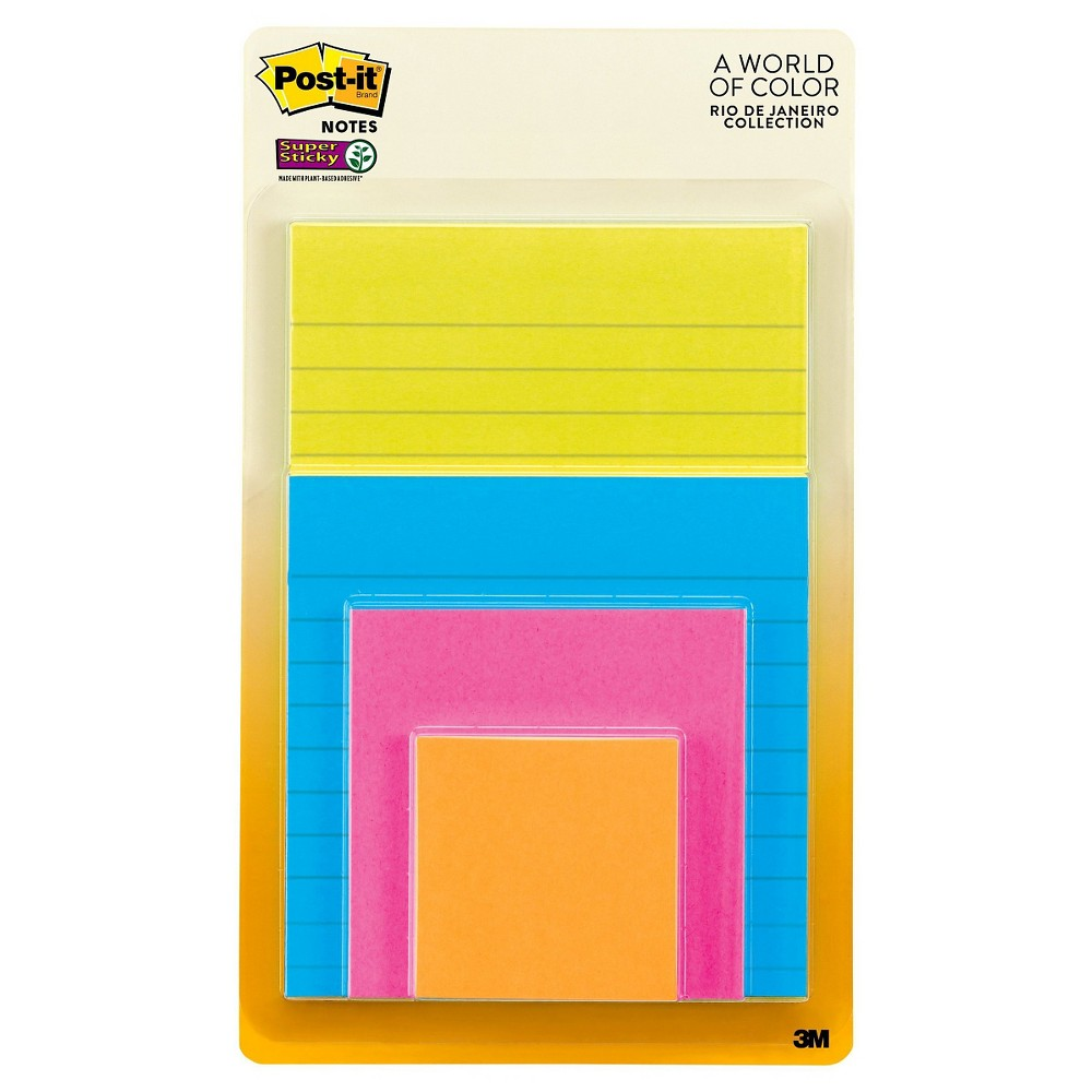Post-It Notes Variety Pack, 4ct - Multicolor, None