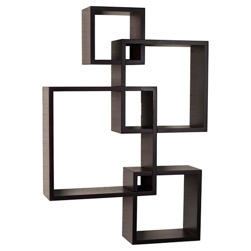 Intersecting Cube Shelves - Espresso - image 1 of 3