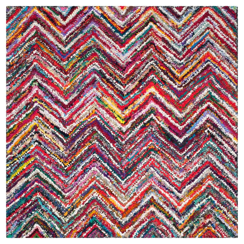 Stripes Tufted Square Area Rug - (6'x6') - Safavieh, Multicolored