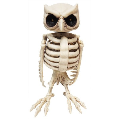Animated Owl Skeleton Halloween Decorative Prop