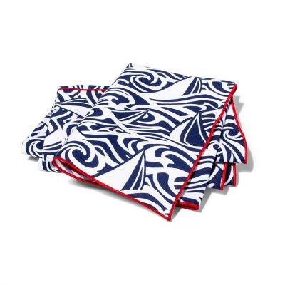 Rough Seas Fabric Napkin Set of 4 - Navy/White - vineyard vines® for Target