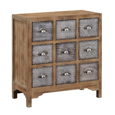 Dartmouth Vintage 9 Drawer Chest Brown - Treasure Trove Accents
