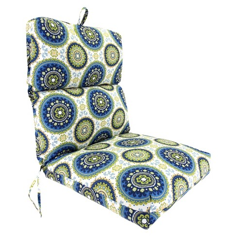 Outdoor Universal Chair Cushion Blue Green Yellow Geometric Target