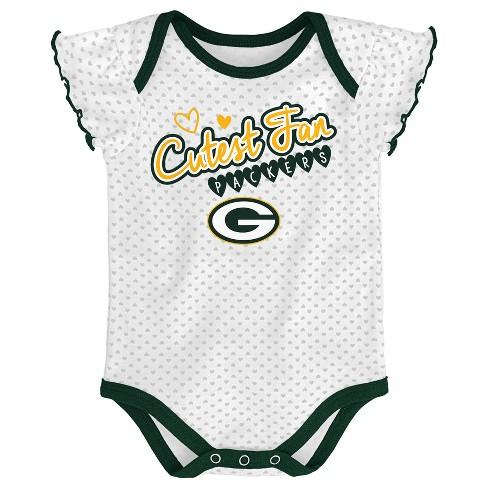 43765b85c23 Green Bay Packers Girls  Newest Fan 3pk Bodysuit Set 6-9 M   Target