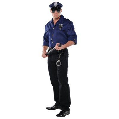 Adult Police Shirt Halloween Costume One Size