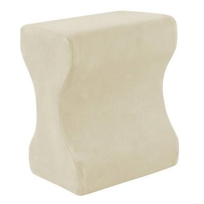 Contour Memory Foam Leg Pillow  Ecru