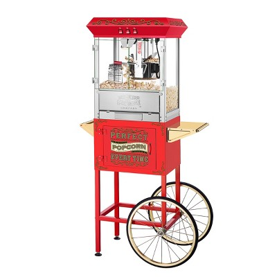 Great Northern Popcorn Perfect Popcorn Machine - Electric Countertop Popcorn Maker and Cart, Red