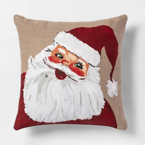 Square Santa Throw Pillow Threshold