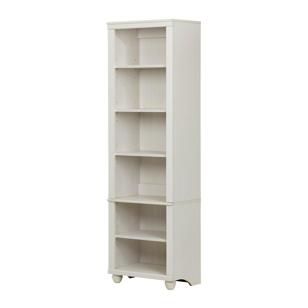 71 Hopedale Narrow 6 - Shelf Bookcase - White Wash - South Shore
