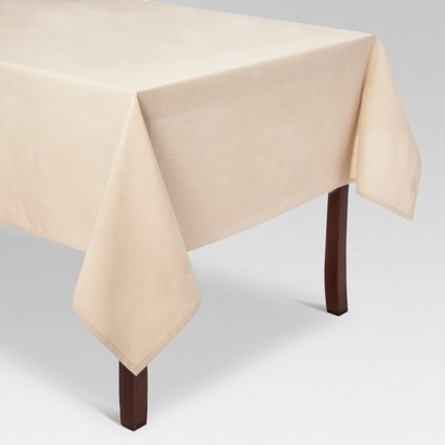 120 x60  Solid Tablecloth Tan - Threshold™