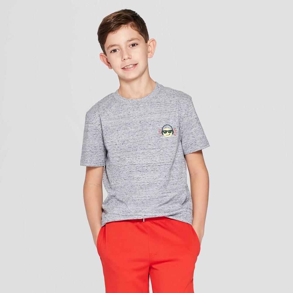Boys' Smiley Face Short Sleeve Graphic T-Shirt - Cat & Jack Navy XS, Blue