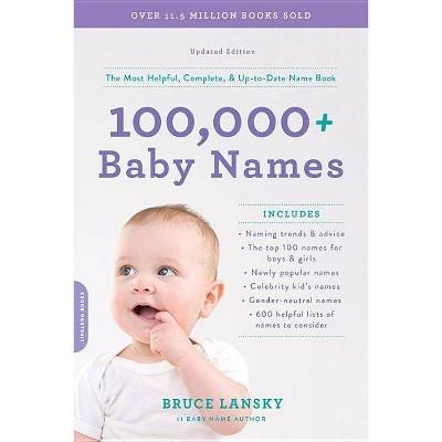 100,000+ Baby Names - by  Bruce Lansky (Paperback)