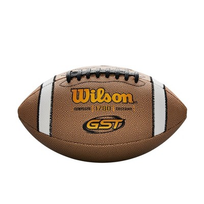 Wilson GST Competition Official Size Football - Brown