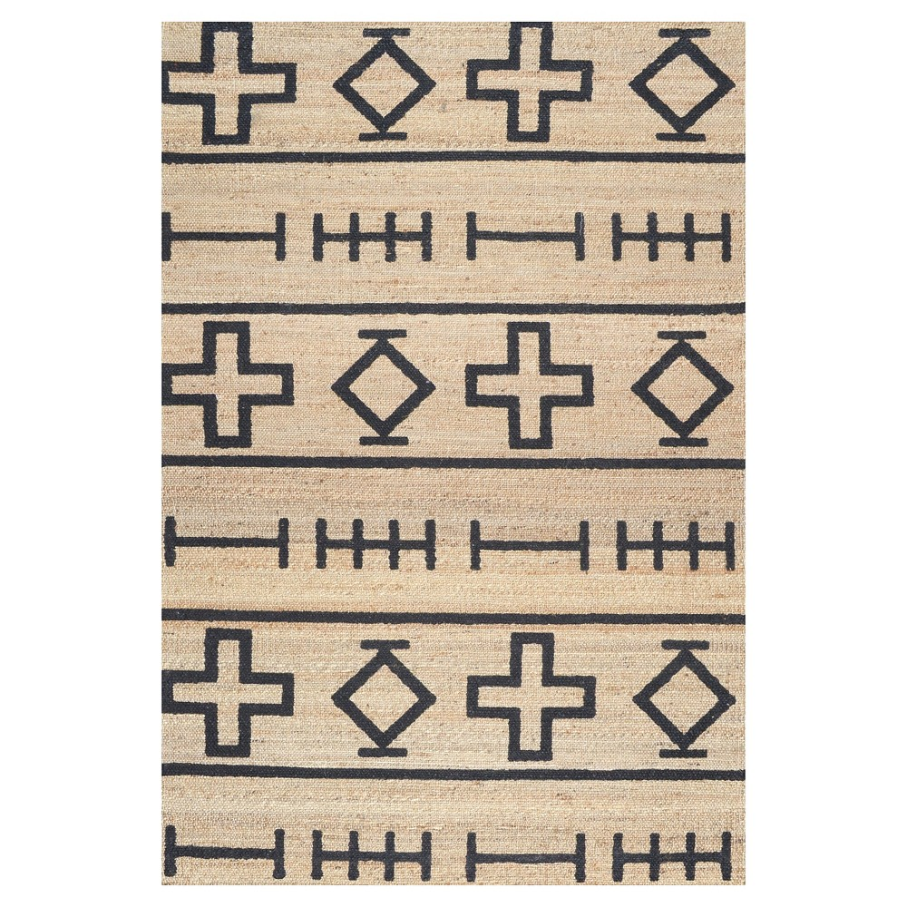 White Solid Loomed Area Rug - (8'6