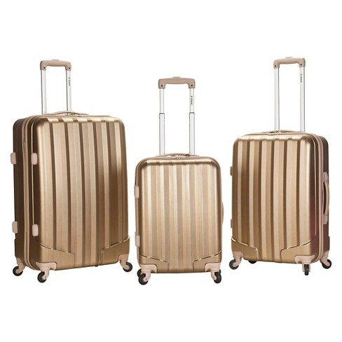 Rockland Metallic 3pc ABS Spinner Luggage Set - image 1 of 3