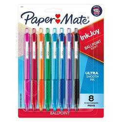 Paper Mate Inkjoy 8pk 300RT Retractable Ballpoint Pens Multicolor