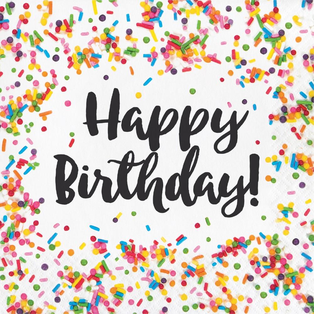 Image of 16ct Confetti Sprinkles Birthday Napkins