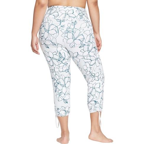 4d294aba3cc37 Women s Plus Size Printed Comfort 7 8 High-Waisted Leggings With Adjustable  Length - JoyLab™   Target