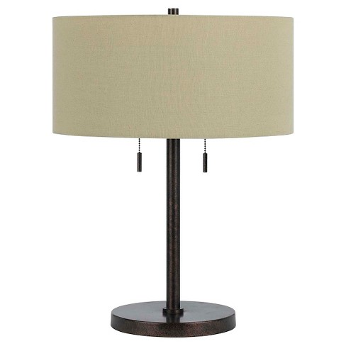 Cal Lighting Calais Metal Table Lamp with 2 bulb sockets - image 1 of 3