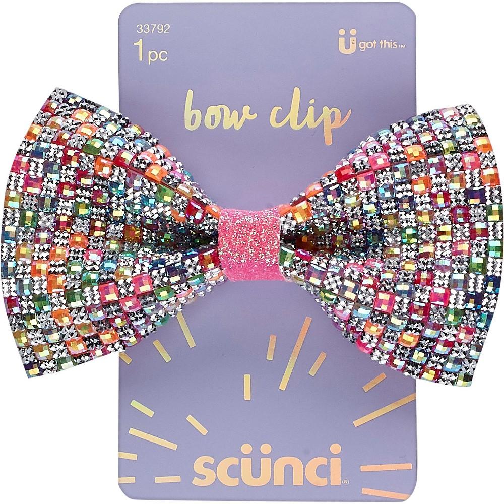 Scunci Multi Stones Bow Salon Clip - 1ct, Multi-Colored