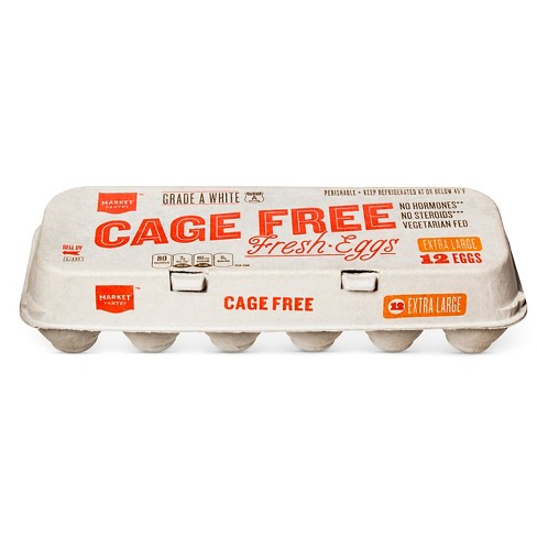 Cage-Free Eggs Extra Large 12 ct - Market Pantry™ - image 1 of 1