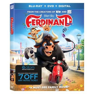 Ferdinand + Atom Ticket Offer (Blu-Ray + DVD + Digital)