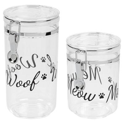 IRIS Dog & Cat Treat Jar Set - Black