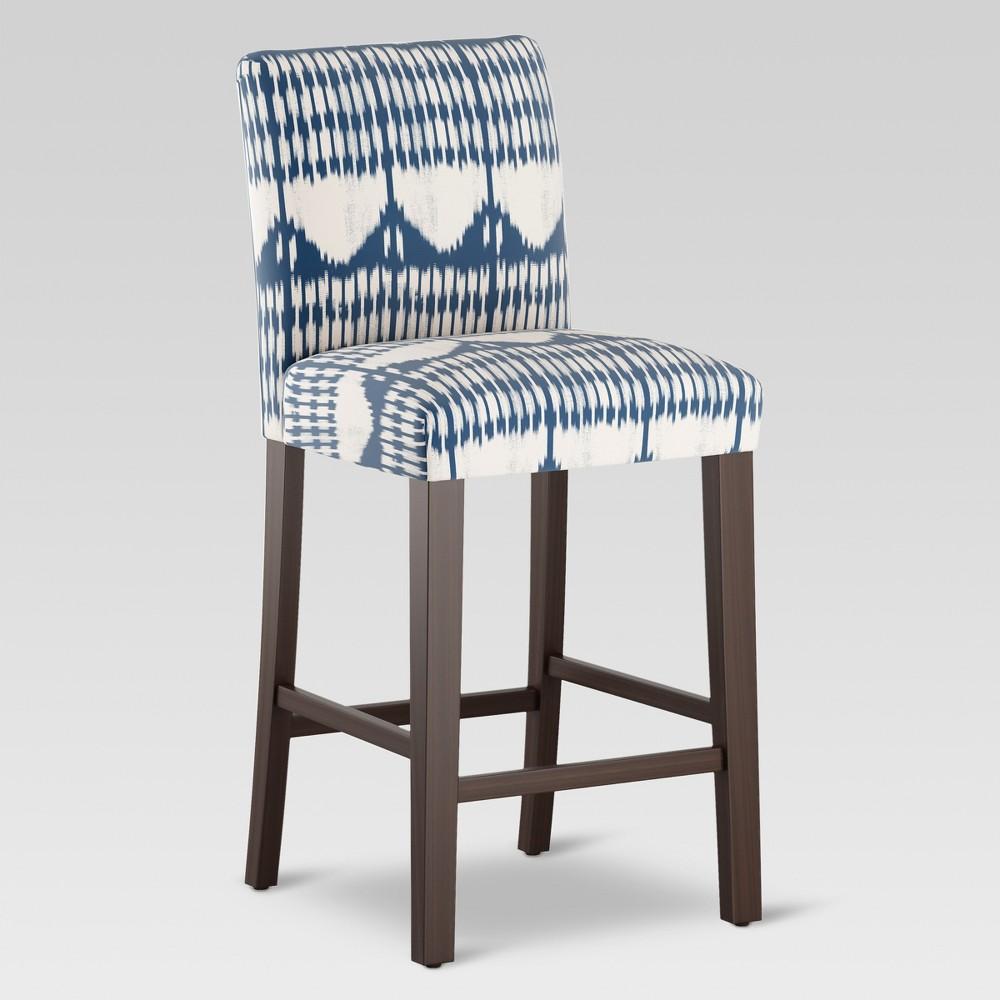 30 Parsons Barstool - Tonal Blue Ikat - Threshold