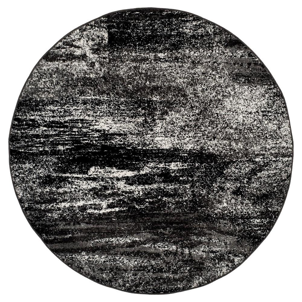 Nykko Area Rug - Silver/Black (6' Round) - Safavieh