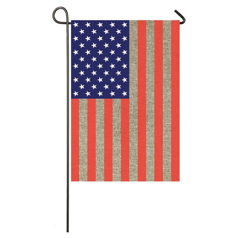 Image of Garden Burlap American Flag