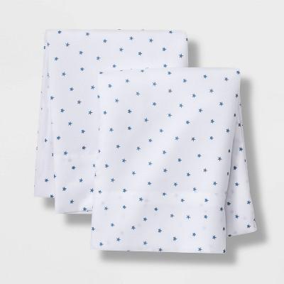 Set of 2 Micro Star Pillowcases Blue - Pillowfort™