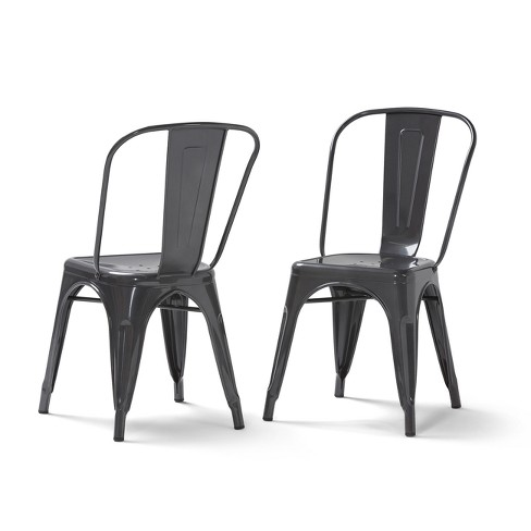 Freya Metal Dining Side Chair Set of 2 - Wyndenhall - image 1 of 7