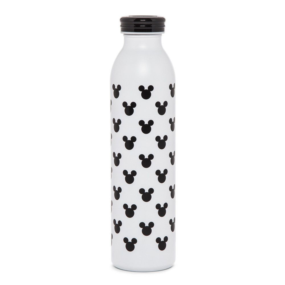 Disney Mickey Mouse & Friends Retro Mickey Water Bottle 20oz - Black/White