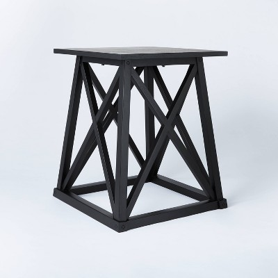 Copperton Wood X Base Accent Table Black - Threshold™ designed with Studio McGee