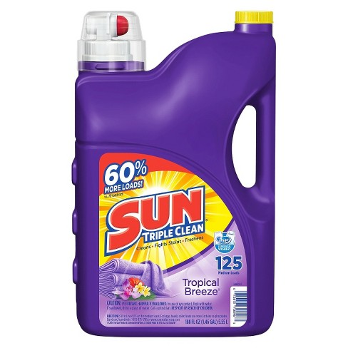 Sun Tropical Breeze Scent Liquid Laundry Detergent 188 oz - image 1 of 1