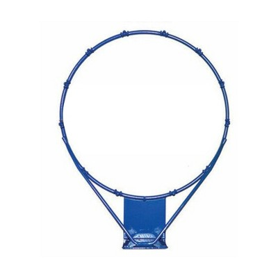 Dunn-Rite 18 Inch Poola Hoop Outdoor Stainless Steel Swimming Pool Backboard Replacement Basketball Hoop Rim for Adults and Kids, Navy Blue