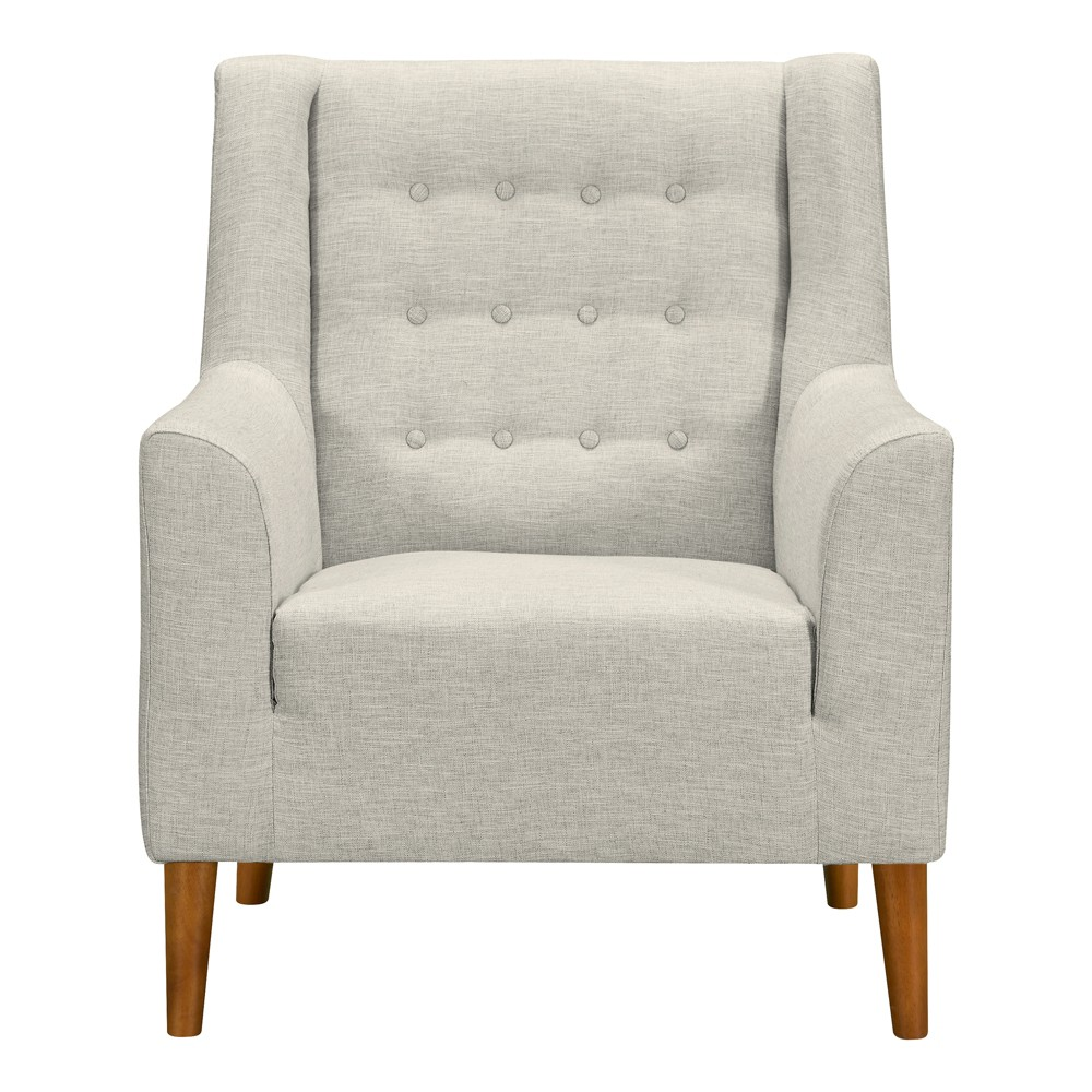 Nubia Mid-Century Accent Chair Beige - Armen Living