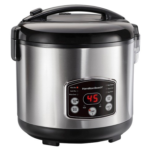 Hamilton Beach Digital Simplicity™ 20 Cup Rice Cooker and Steamer - Stainless 37541 - image 1 of 4