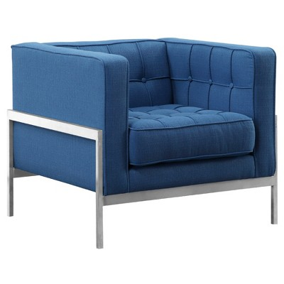 Accent Chairs  Armen Living Stainless Steel Blue